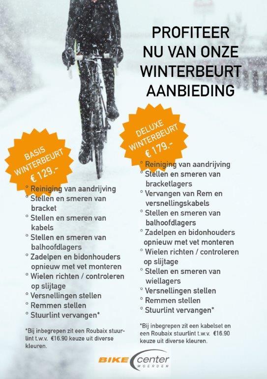 Winterbeurt voor je fiets. korting bij BCW